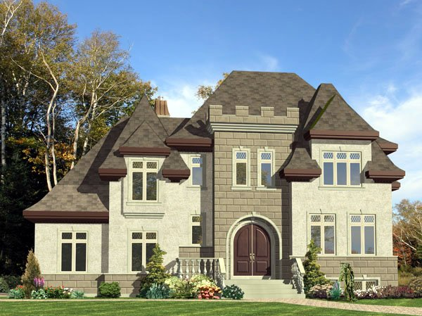 European House Plan 48228 Elevation