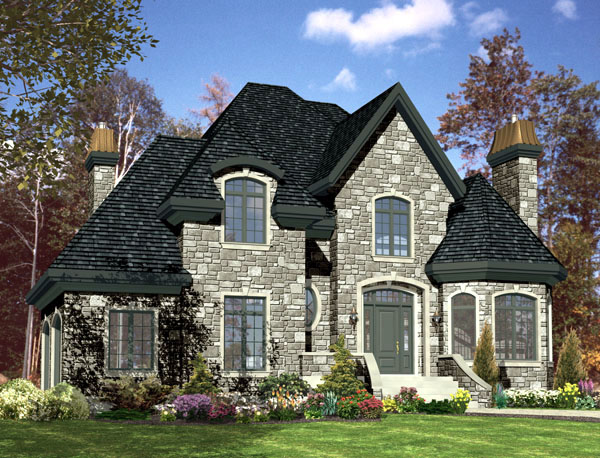 European House Plan 48229 Elevation