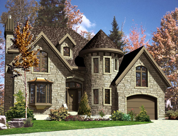 European House Plan 48230 Elevation