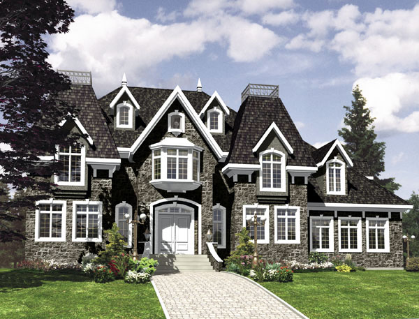 European House Plan 48231 Elevation