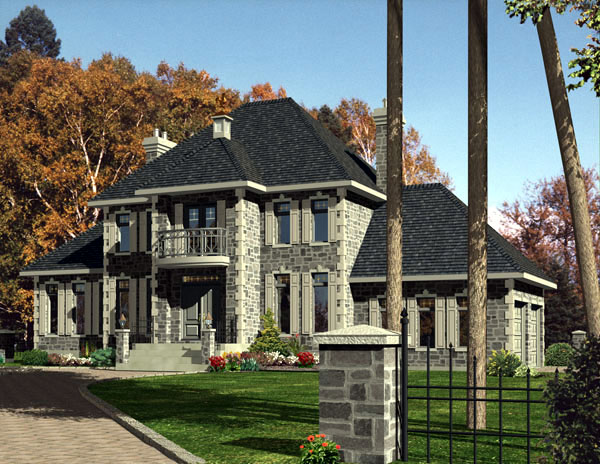 European House Plan 48233 Elevation