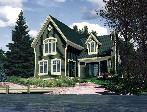 Country House Plan 48238 with 3 Beds, 2 Baths Elevation