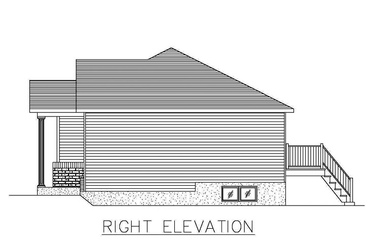 European House Plan 48253 with 2 Beds, 1 Baths Picture 2