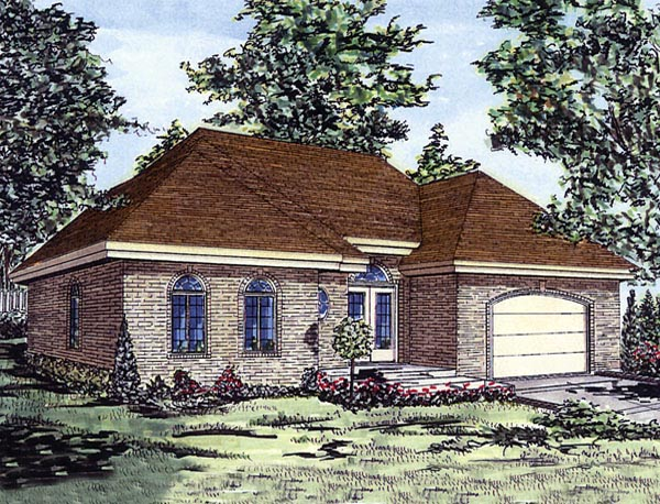 European House Plan 48254 Elevation