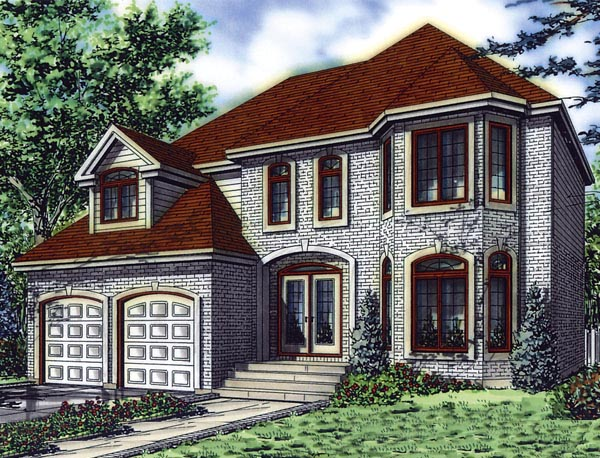 European House Plan 48257 Elevation