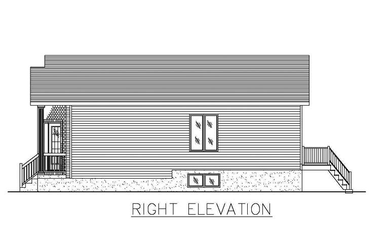 European House Plan 48260 with 2 Beds, 1 Baths Picture 2