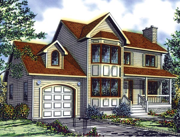 Country European House Plan 48261 Elevation