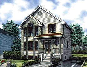Colonial House Plan 48266 Elevation