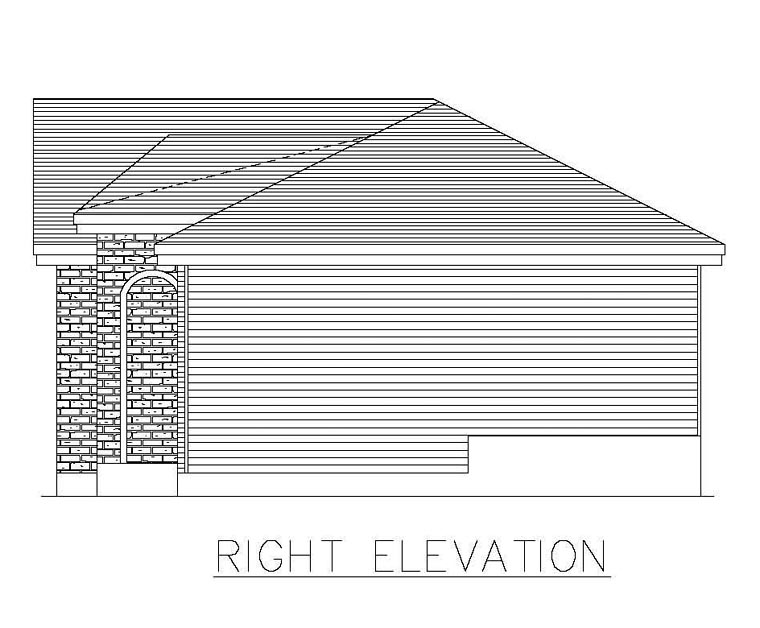 European House Plan 48269 with 2 Beds, 1 Baths Picture 2