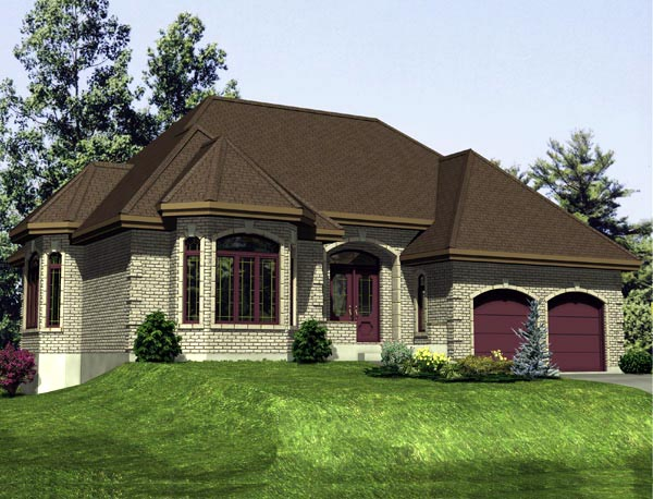 House Plan 48270 Elevation