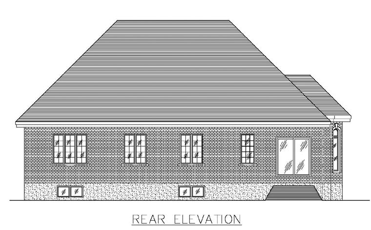 House Plan 48270 Rear Elevation