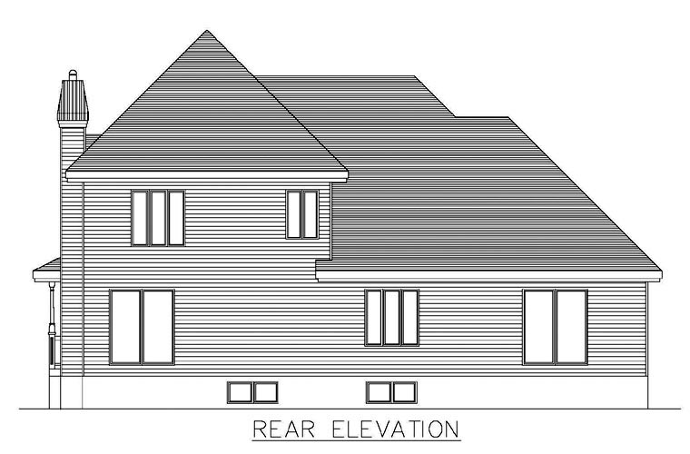 Southern House Plan 48271 Rear Elevation