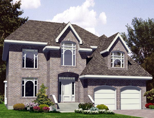 House Plan 48273 | Style Plan with 2658 Sq Ft, 4 Bedrooms, 3 Bathrooms, 2 Car Garage Elevation
