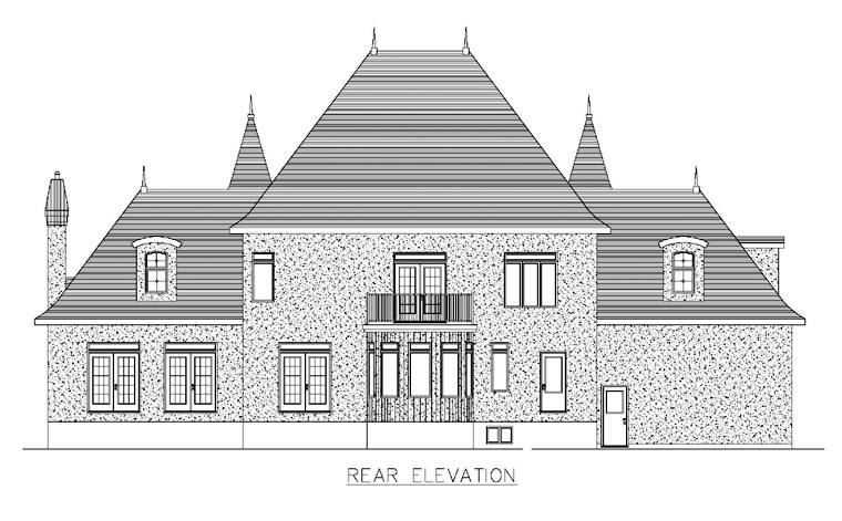 House Plan 48276 Rear Elevation