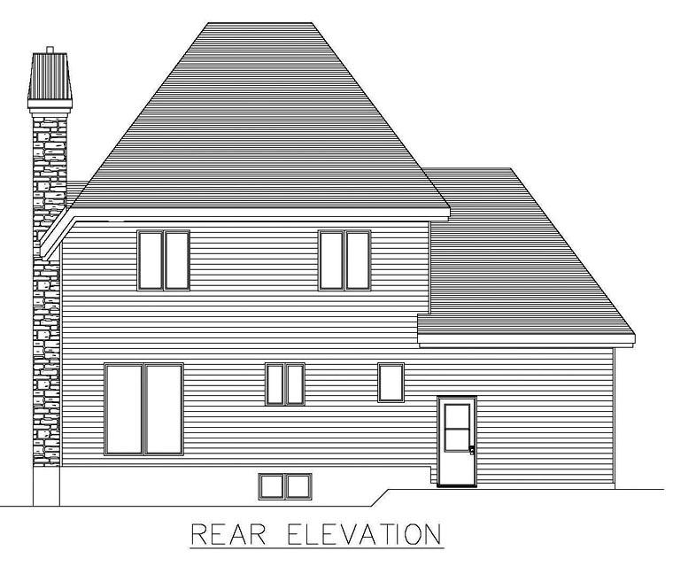 House Plan 48278 Rear Elevation