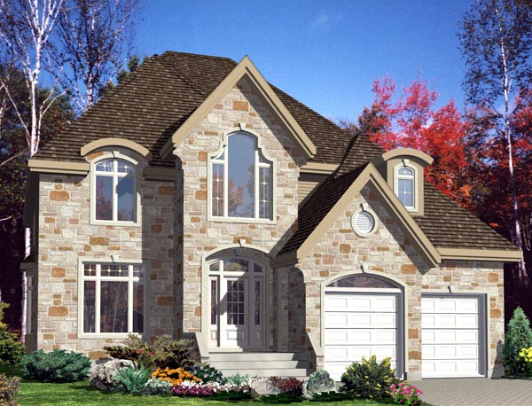 European House Plan 48279 Elevation