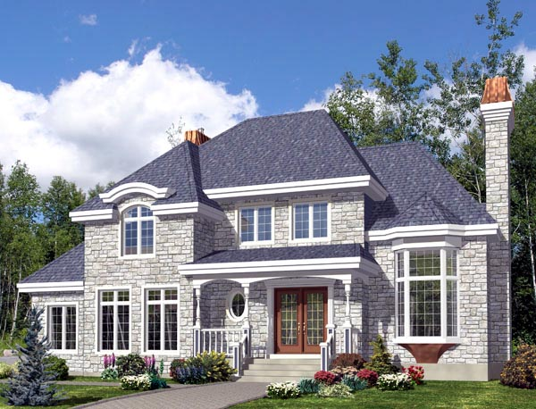 Colonial House Plan 48281 Elevation