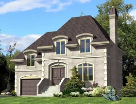 House Plan 48282 Elevation