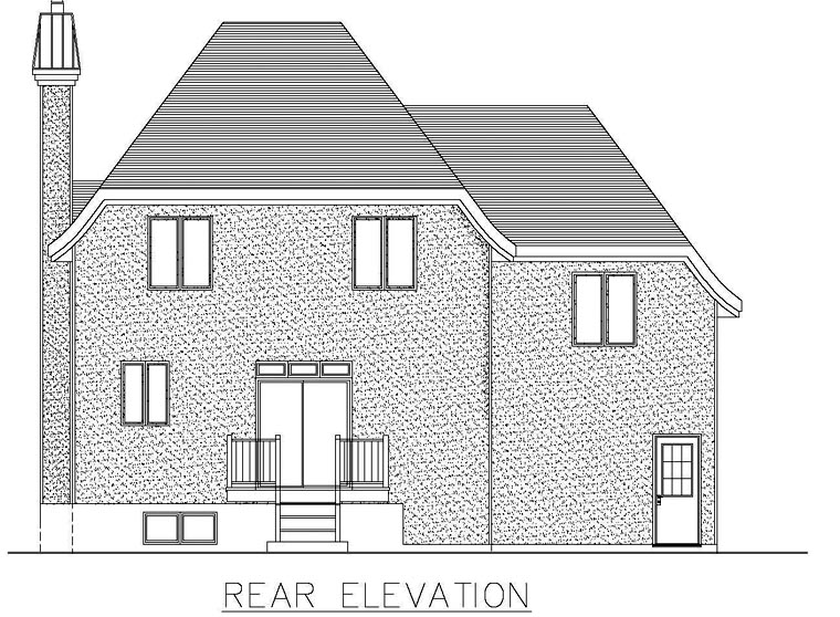 House Plan 48282 Rear Elevation