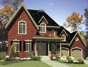 House Plan 48285 | Southern Style Plan with 1652 Sq Ft, 3 Bedrooms, 2 Bathrooms, 1 Car Garage Elevation