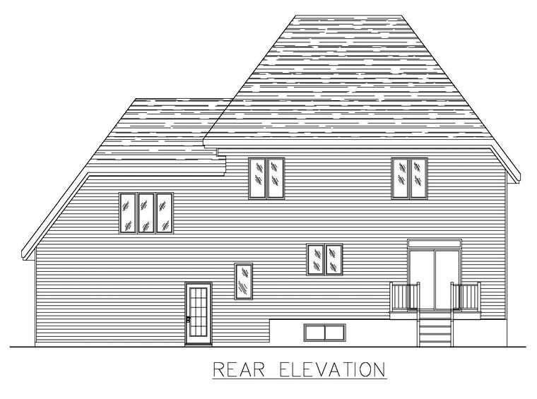 Southern House Plan 48285 Rear Elevation