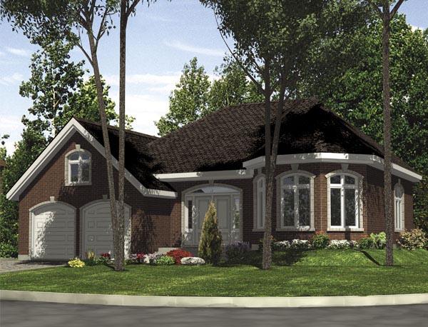 European House Plan 48286 Elevation