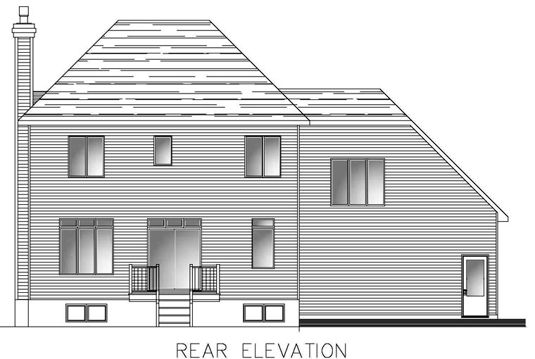 Southern House Plan 48287 Rear Elevation