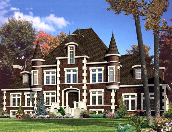 House Plan 48288 with 5 Beds, 5 Baths, 2 Car Garage Elevation