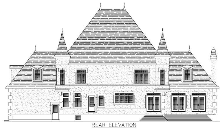 House Plan 48288 Rear Elevation