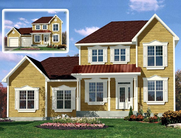 European House Plan 48293 Elevation