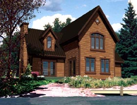 House Plan 48294 with 4 Beds, 2 Baths Elevation