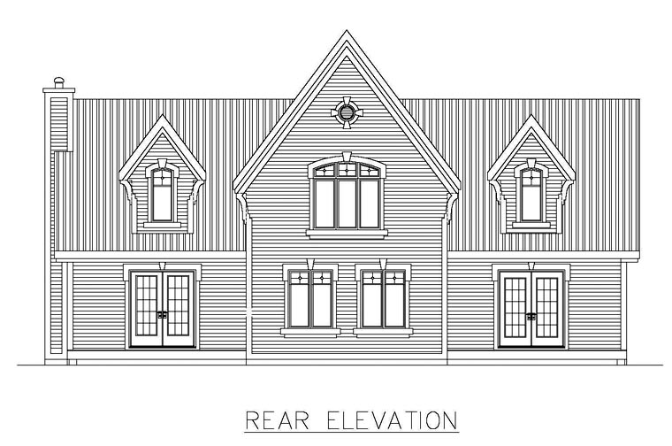 House Plan 48294 Rear Elevation
