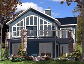 House Plan 48295 with 3 Beds, 2 Baths, 1 Car Garage Elevation