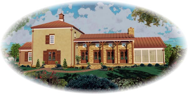 Country House Plan 48305 Elevation