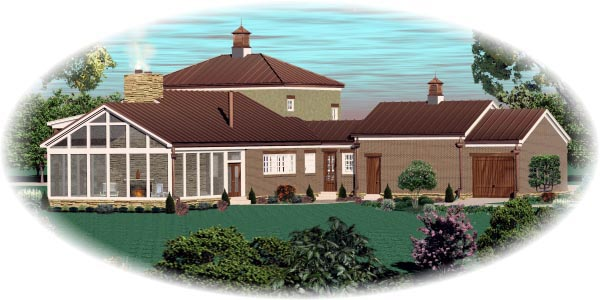 Country House Plan 48305 Rear Elevation
