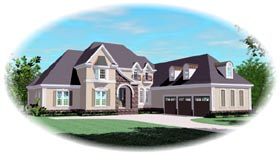 European House Plan 48307 Elevation