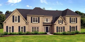 Traditional House Plan 48308 with 5 Beds, 4 Baths, 3 Car Garage Elevation