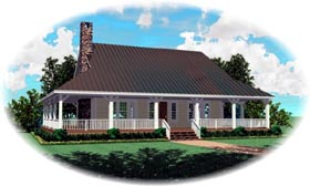 Country House Plan 48311 Elevation