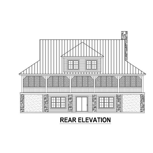 Country House Plan 48311 Rear Elevation