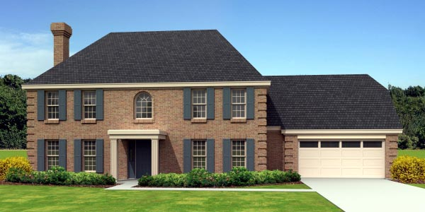 European House Plan 48313 Elevation