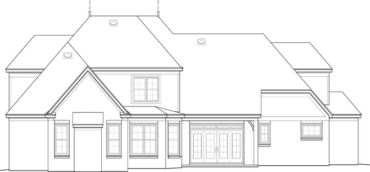 European House Plan 48325 Rear Elevation