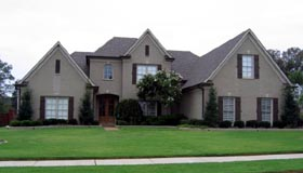 European , Traditional House Plan 48330 with 4 Beds, 4 Baths, 3 Car Garage Elevation