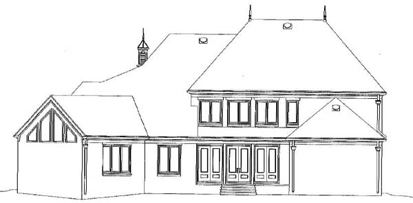 Country European House Plan 48338 Rear Elevation