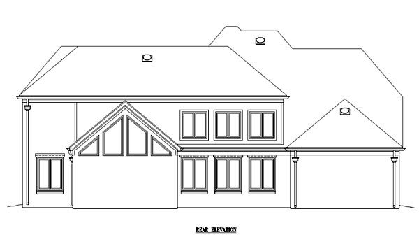 Country European House Plan 48339 Rear Elevation
