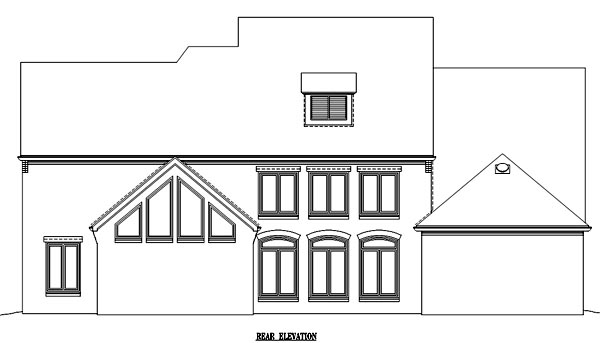 Country European House Plan 48340 Rear Elevation