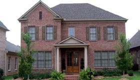 Traditional House Plan 48344 with 3 Beds, 3 Baths, 2 Car Garage Elevation