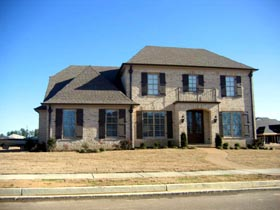 Traditional House Plan 48347 with 3 Beds, 3 Baths, 3 Car Garage Elevation