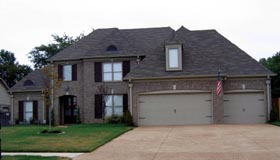 House Plan 48349 | European Style Plan with 3529 Sq Ft, 5 Bedrooms, 3 Bathrooms, 3 Car Garage Elevation
