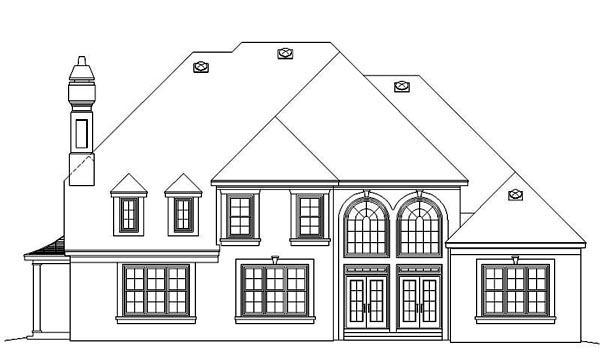 European Traditional House Plan 48360 Rear Elevation
