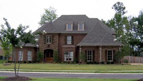 Country , European House Plan 48362 with 4 Beds, 5 Baths, 3 Car Garage Elevation